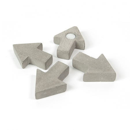 Magnet  - sageata ciment - CONCRETE ARROW (4 buc/set)0